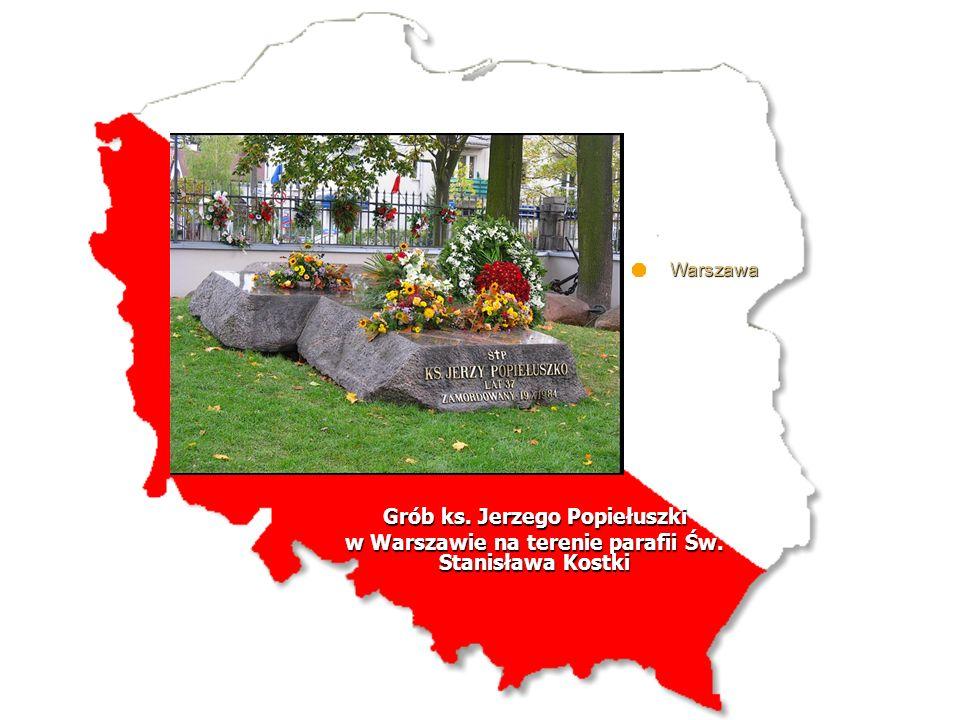 Warszawa Grób ks. Jerzego Popiełuszki w Warszawie na terenie parafii Św. Stanisława Kostki