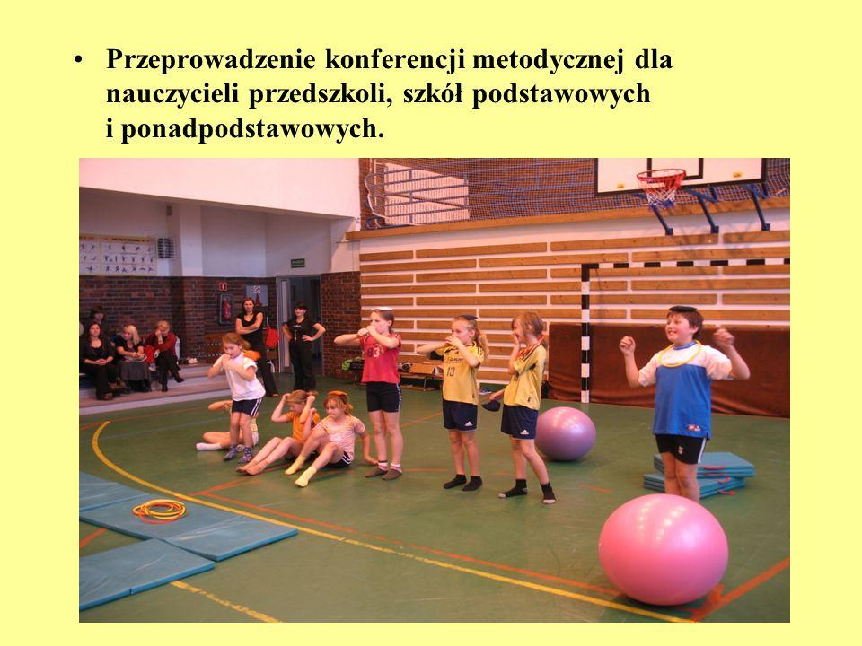 Przeprowadzenie konferencji metodycznej dla nauczycieli przedszkoli, szkół podstawowych i ponadpodstawowych.