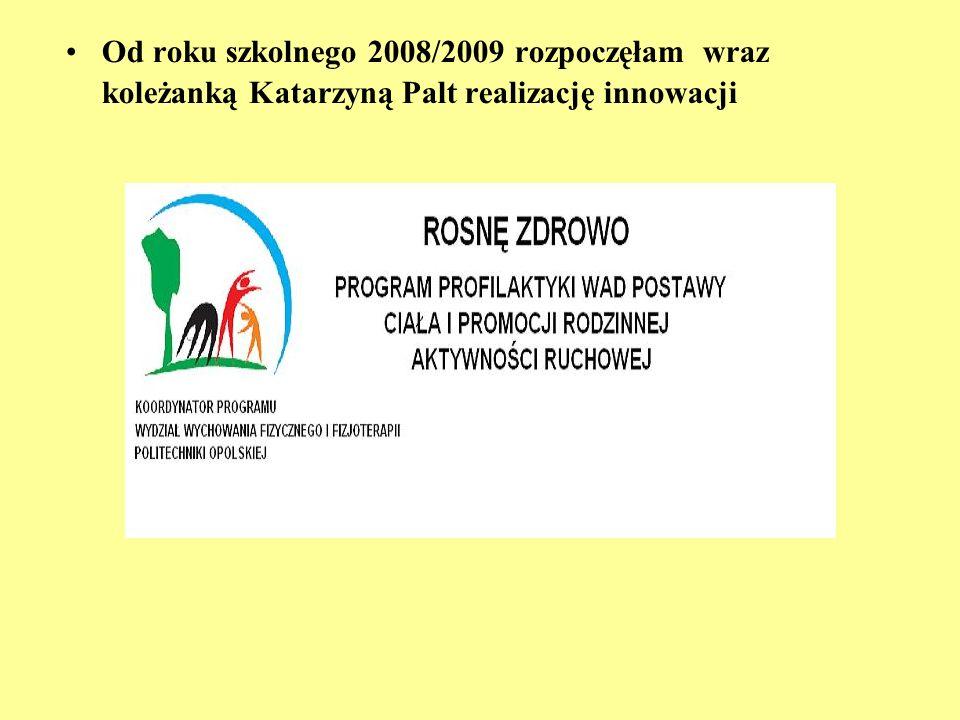 Od roku szkolnego 2008/2009 rozpoczęłam wraz koleżanką Katarzyną Palt realizację innowacji