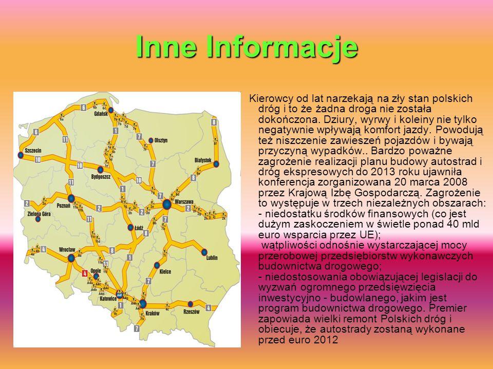 Inne Informacje Kierowcy od lat narzekają na zły stan polskich dróg i to że żadna droga nie została dokończona. Dziury, wyrwy i koleiny nie tylko nega