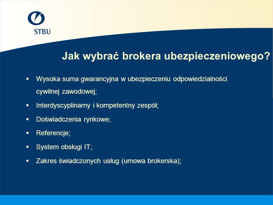 Jak wybrać brokera ubezpieczeniowego? Wysoka suma gwarancyjna w ubezpieczeniu odpowiedzialności cywilnej zawodowej; Interdyscyplinarny i kompetentny z