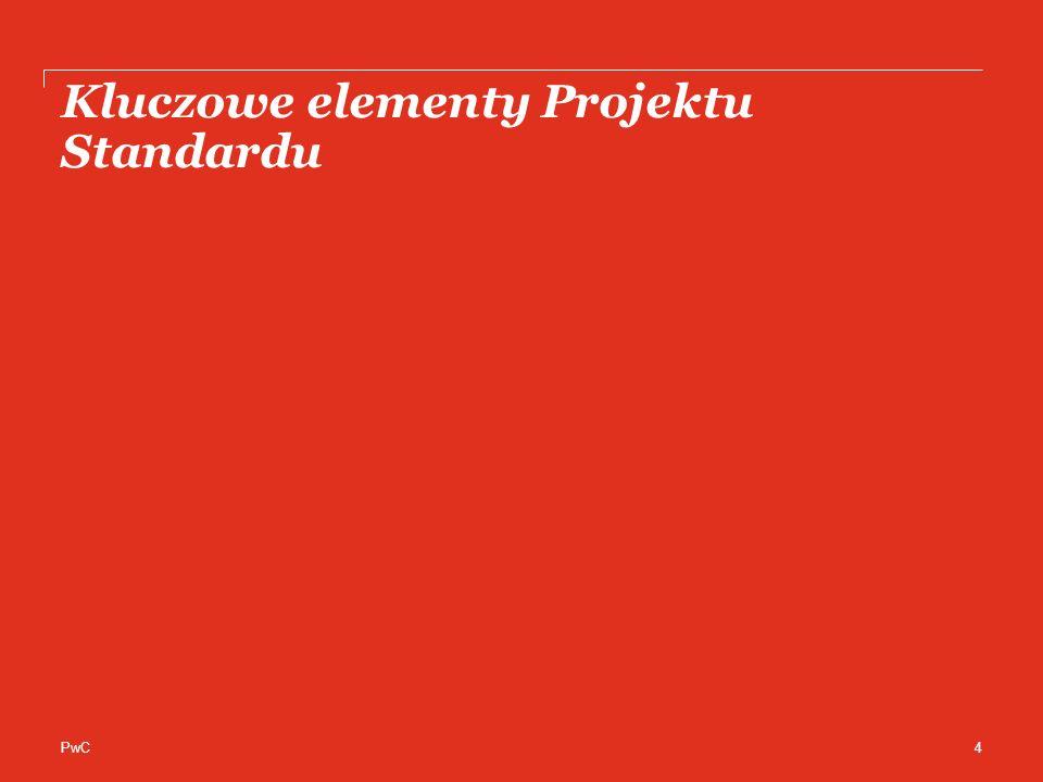 PwC Kluczowe elementy Projektu Standardu 4