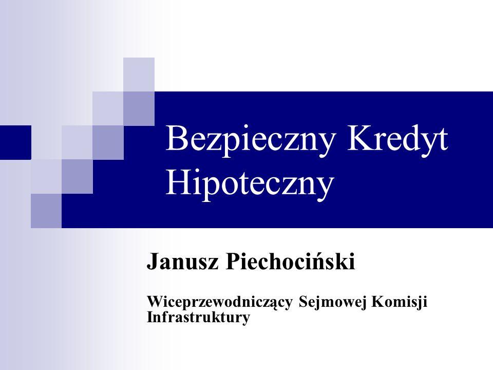 Bezpieczny Kredyt Hipoteczny Janusz Piechociński Wiceprzewodniczący Sejmowej Komisji Infrastruktury