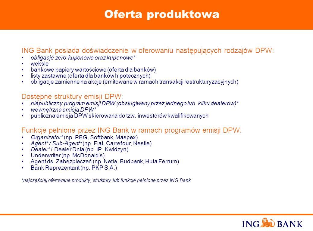 10 Finansowanie działalności operacyjnej lub inwestycyjnej emitenta, w zależności od terminów wykupu emitowanych DPW Usprawnienie zarządzania przepływ
