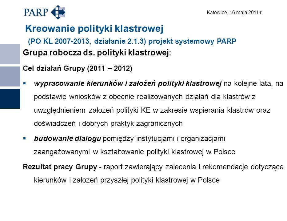 Katowice, 16 maja 2011 r.Skład Grupy ds.