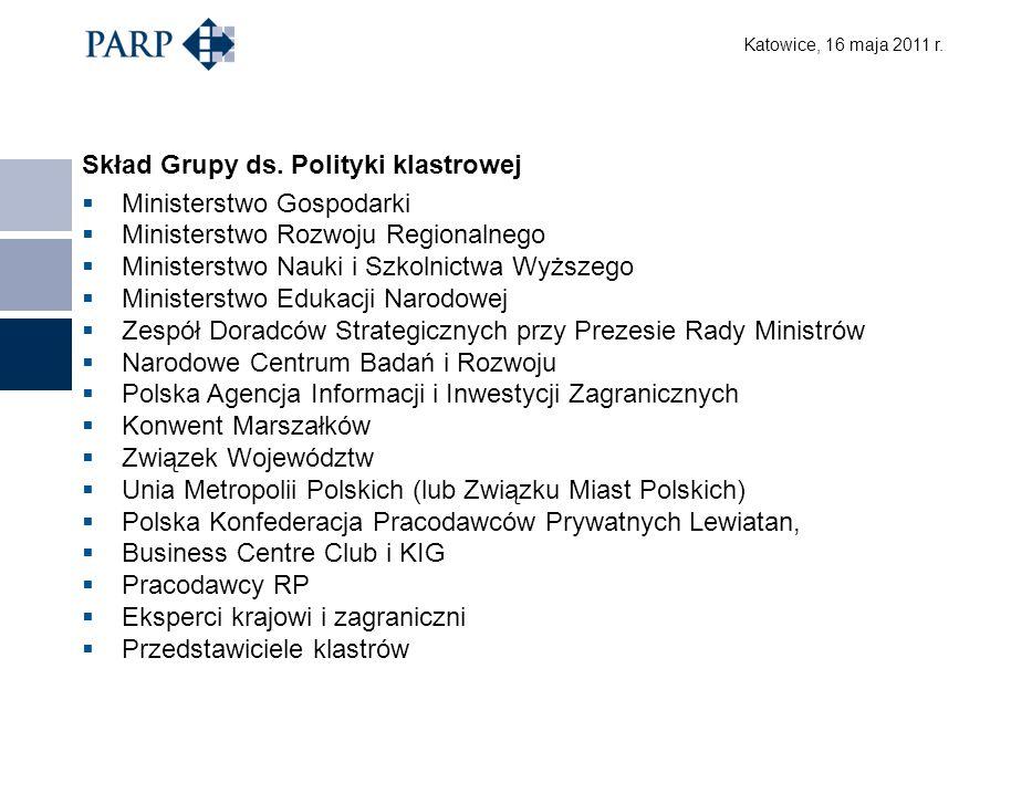 Katowice, 16 maja 2011 r. Skład Grupy ds.