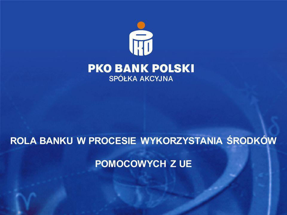 ROLA BANKU W PROCESIE WYKORZYSTANIA ŚRODKÓW POMOCOWYCH Z UE