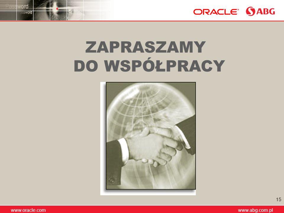 www.abg.com.pl www.oracle.com www.abg.com.pl 15 ZAPRASZAMY DO WSPÓŁPRACY
