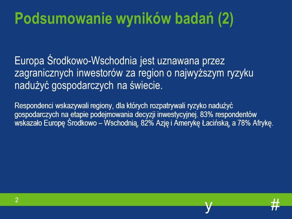 #y 1 20 % międzynarodowych korporacji zdecydowało się nie inwestować na rynkach wschodzących ze względu na zbyt wysokie ryzyko nadużyć gospodarczych, w tym przede wszystkim korupcji.