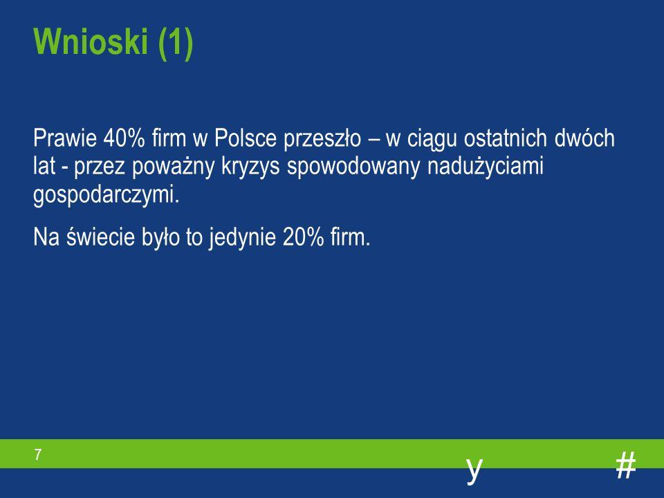 #y 7 Prawie 40% firm w Polsce przeszło – w ciągu ostatnich dwóch lat - przez poważny kryzys spowodowany nadużyciami gospodarczymi.