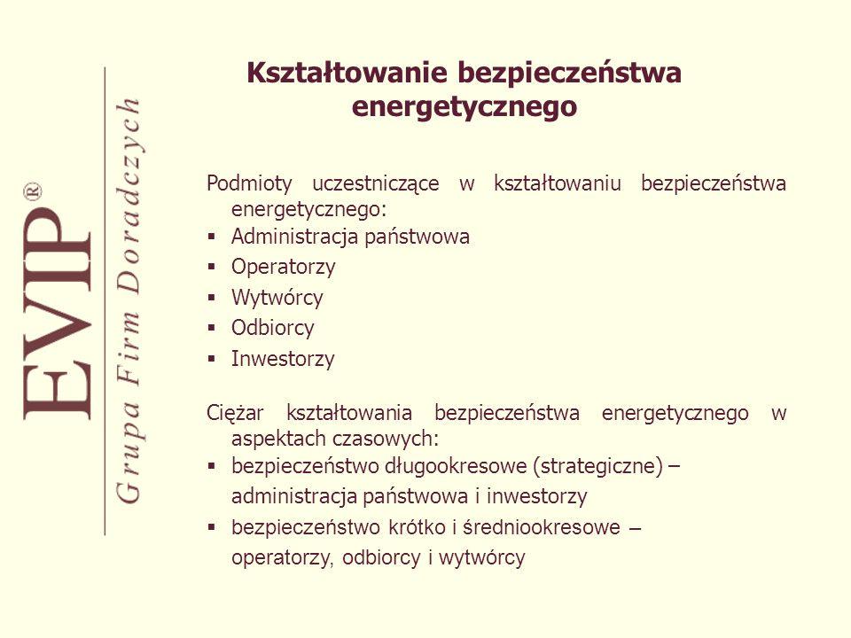 Rola państwa w sektorze energetycznym Funkcja państwa jako regulatora: Gwarantowanie bezpieczeństwa politycznego, Tworzenie regulacji systemowych, Stymulowanie procesów inwestycyjnych, Tworzenie mechanizmów zapewniających równe warunki dostępu odbiorców do energii Funkcja państwa jako właściciela/akcjonariusza: Kontrola strategiczna w warunkach monopolu lokalnego, Zapewnienie środków na realizację inwestycji w przypadkach nie gwarantujących wystarczającego poziomu zwrotu z aktywów lub związanych ze zbyt wysokim ryzykiem inwestycyjnym