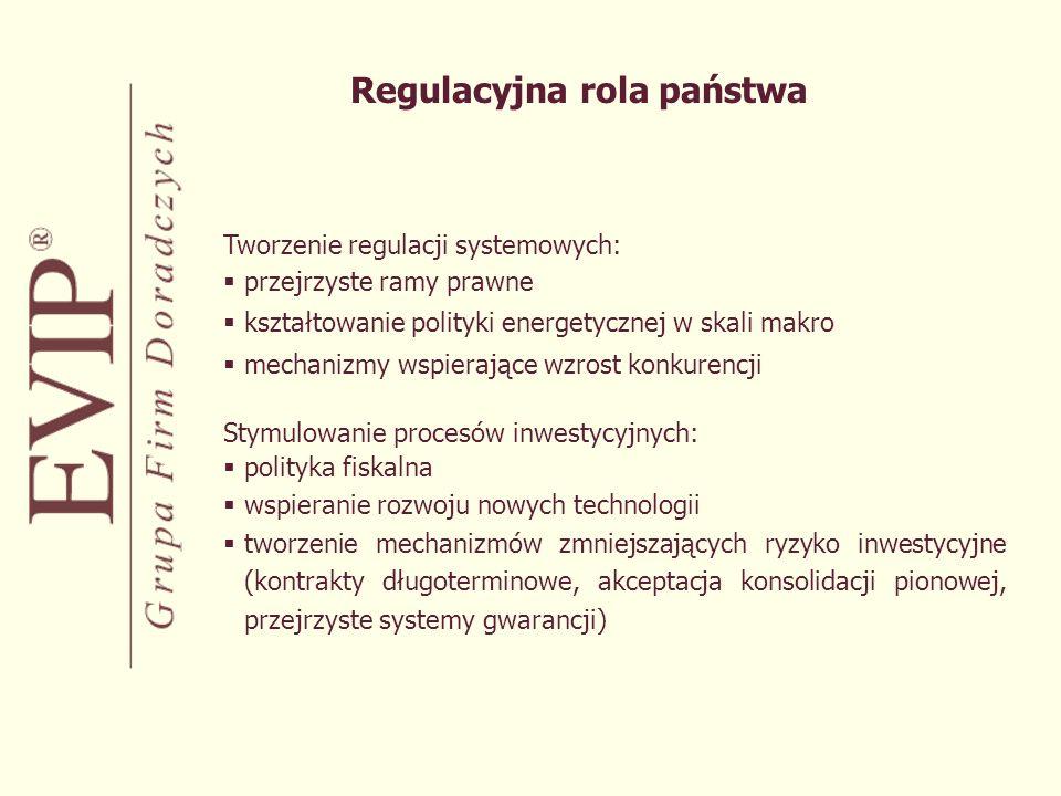 Obszary kontroli strategicznej: System przesyłowy Monopole lokalne Narzędzia zapewnienia kontroli strategicznej: Większościowy pakiet akcji Kontrola poprzez zapisy statutowe Limity inwestycyjne Złota akcja Właścicielska rola państwa w aspekcie kontroli strategicznej
