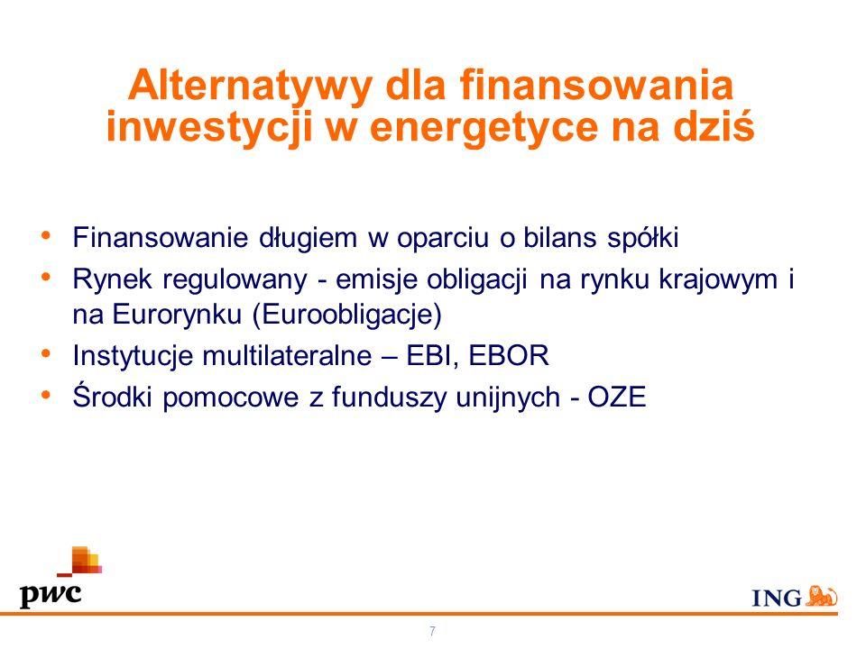 66 Otoczenie prawne i regulacyjne Ciągłe zmiany w otoczeniu prawnym i regulacyjnym sektora elektroenergetyki nie budują dobrego klimatu dla inwestycji Uwolnienie i ponowne przywrócenie taryfy G Niepewność co do przyszłości certyfikatów zielonych (po 2017r.) i czerwonych (po 2012r.) Niepewność co do przydziału darmowych uprawnień CO2 Pojawianie się innych kolorowych certyfikatów Polityka Komisji UE Rozwiązanie KDT, niejasne zasady rekompensat Obligo giełdowe Niepewność co do wprowadzenia nowych standardów emisji SO2 i Nox Brak przepisów w zakresie akcyzy dla węgla i gazu
