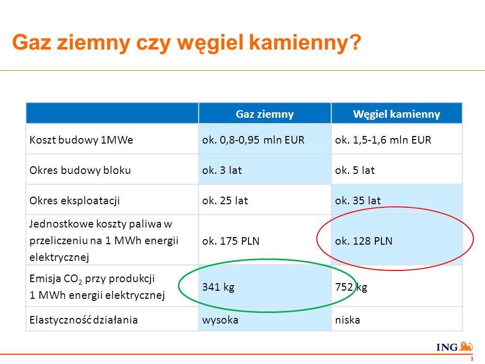 Do not put content in the Brand Signature area 2 Prognoza produkcji energii elektrycznej w oparciu o paliwo gazowe (TWh) Źródło: ARE S.A., Aktualizacja prognozy zapotrzebowania na paliwa i energię do roku 2030.