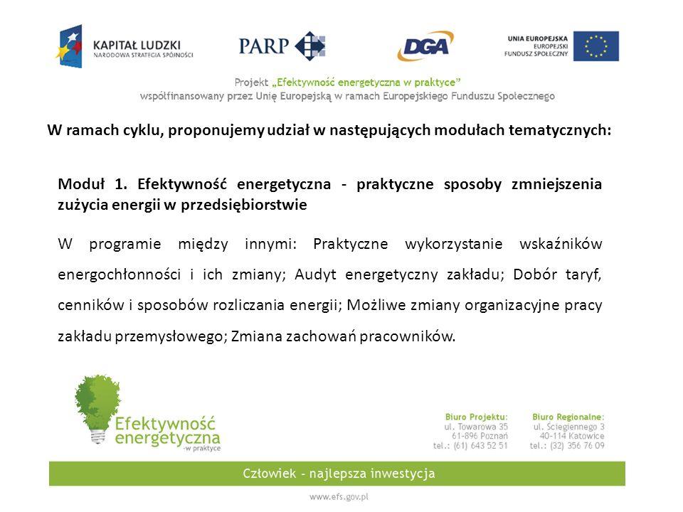 W ramach cyklu, proponujemy udział w następujących modułach tematycznych: Moduł 1.