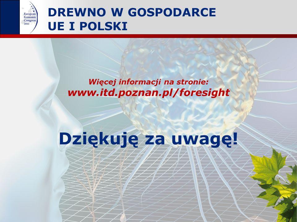 Drewno w gospodarce UE i Polski Katowice, 17 maja 2011 DREWNO W GOSPODARCE UE I POLSKI Dziękuję za uwagę! Więcej informacji na stronie: www.itd.poznan