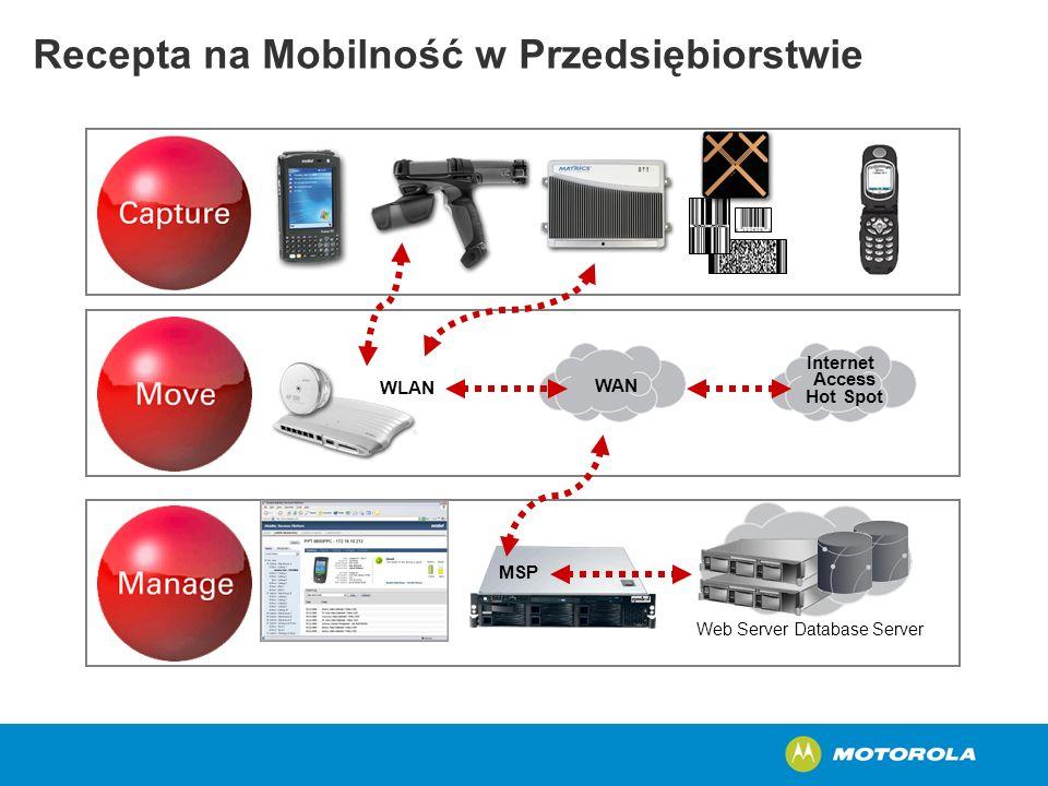 Recepta na Mobilność w Przedsiębiorstwie MSP Web Server Database Server Internet Access Hot Spot WAN WLAN