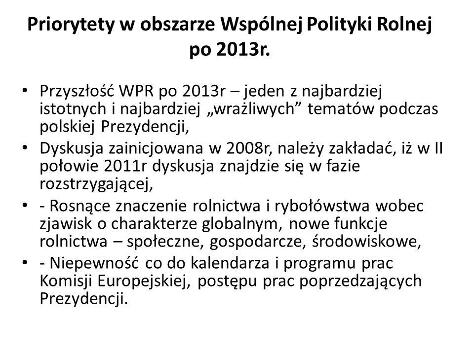 Priorytety w obszarze Wspólnej Polityki Rolnej po 2013r.