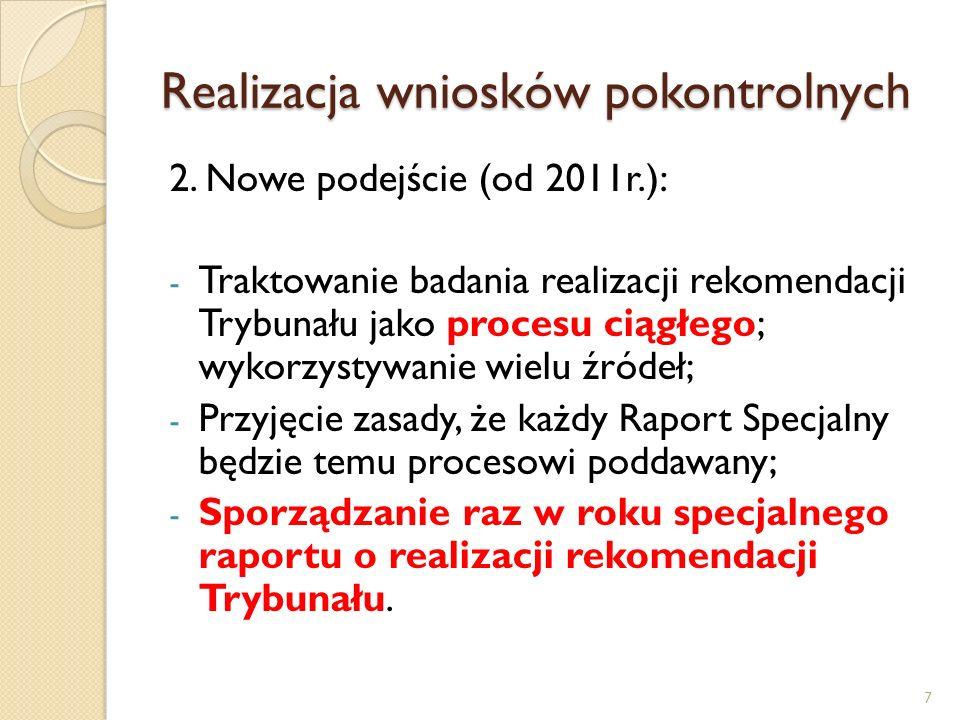 Efektywność NIK wg sprawozdania za 2010r NIK podaje tylko wybrane efekty kontroli - Wnioski de lege ferenda; - Wnioski usprawniające działalność jednostki kontrolowanej; - Wnioski o charakterze profilaktycznym; - Efekty finansowe kontroli.