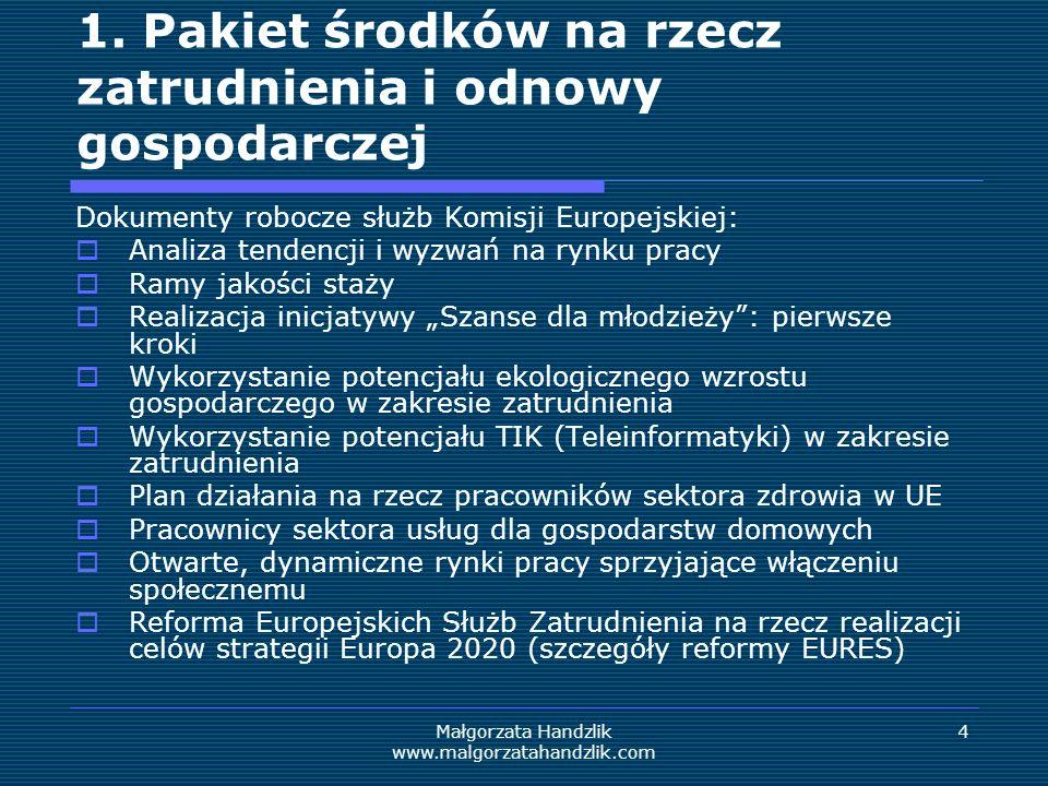 Małgorzata Handzlik www.malgorzatahandzlik.com 5 1.