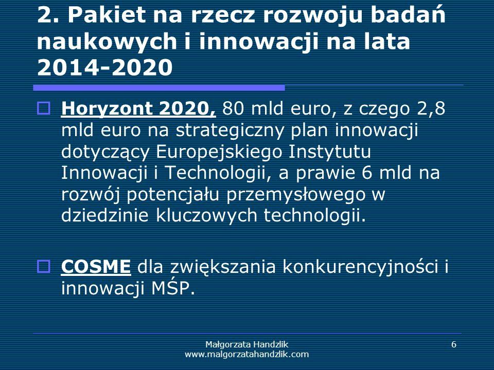 Małgorzata Handzlik www.malgorzatahandzlik.com 6 2.