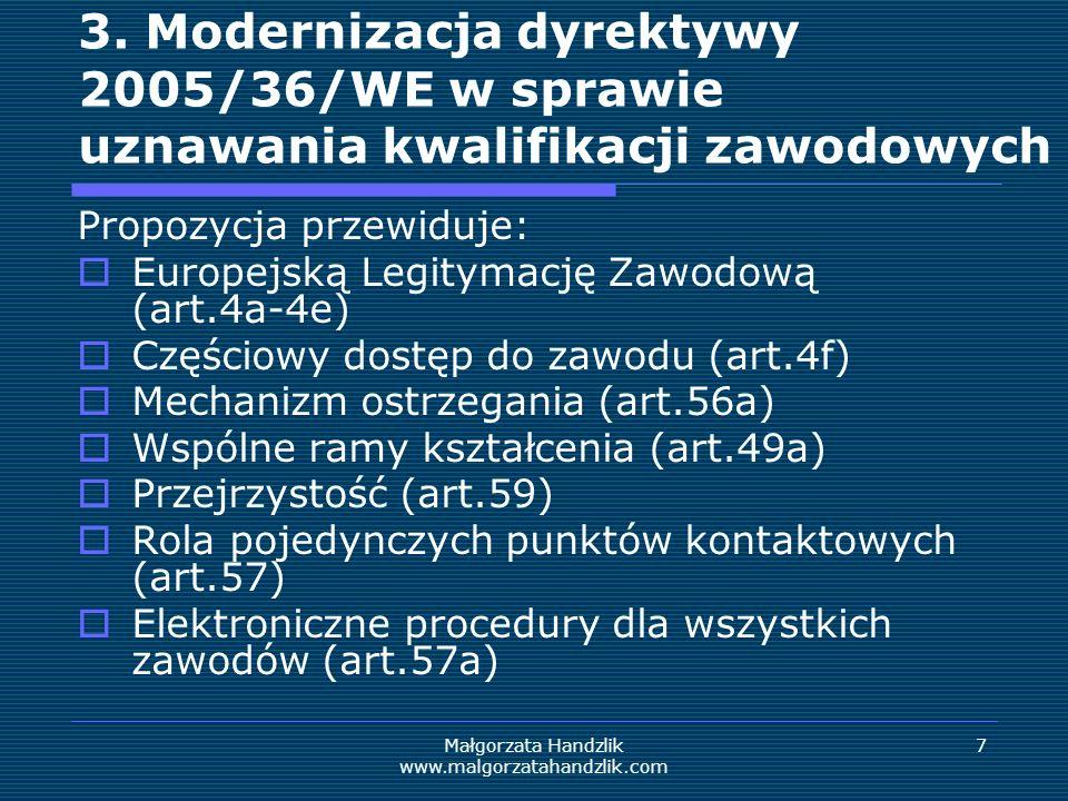 Małgorzata Handzlik www.malgorzatahandzlik.com 8 3.