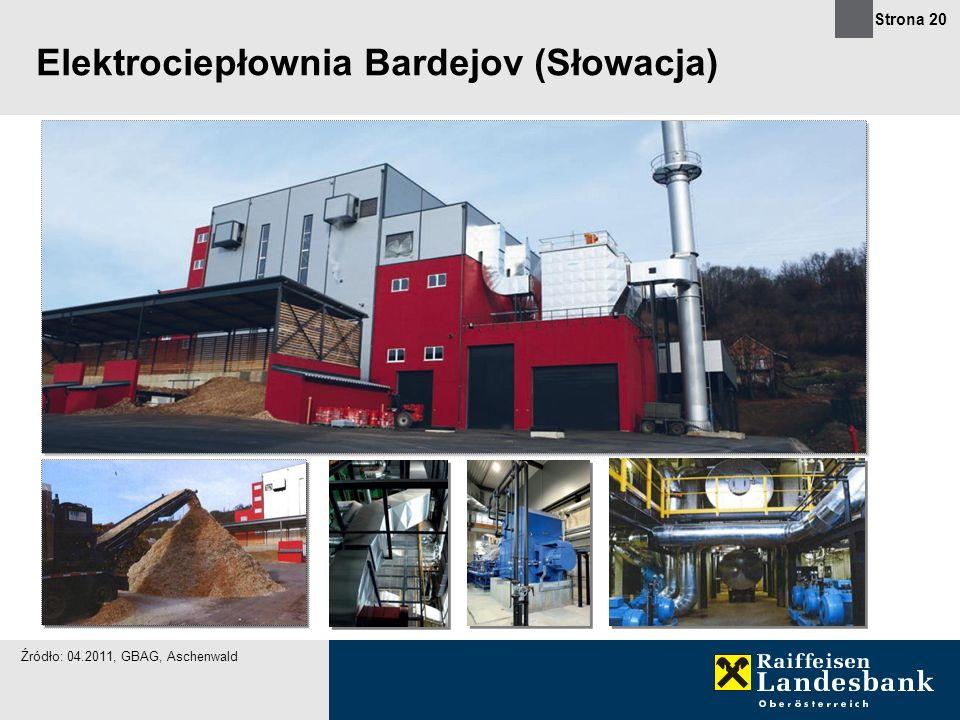 Strona 20 Elektrociepłownia Bardejov (Słowacja) Źródło: 04.2011, GBAG, Aschenwald