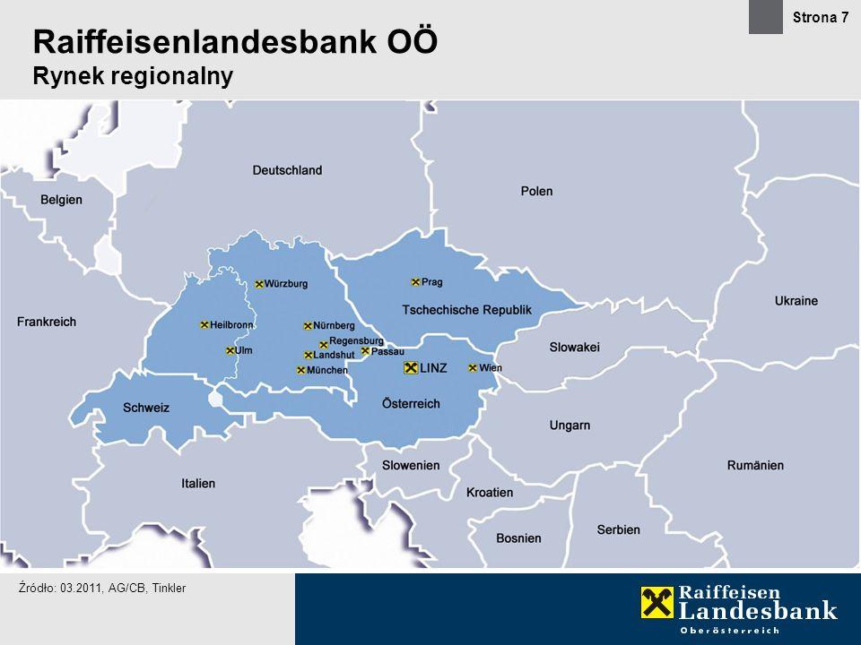 Strona 7 Raiffeisenlandesbank OÖ Rynek regionalny Źródło: 03.2011, AG/CB, Tinkler