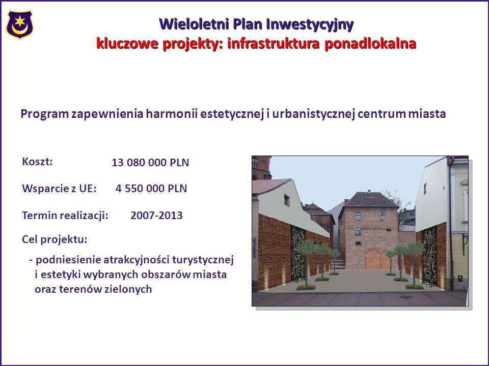 Wieloletni Plan Inwestycyjny kluczowe projekty: infrastruktura ponadlokalna Program zapewnienia harmonii estetycznej i urbanistycznej centrum miasta K