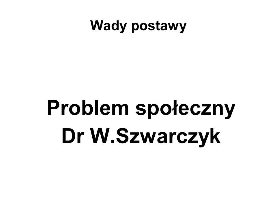 Wady postawy Problem społeczny Dr W.Szwarczyk