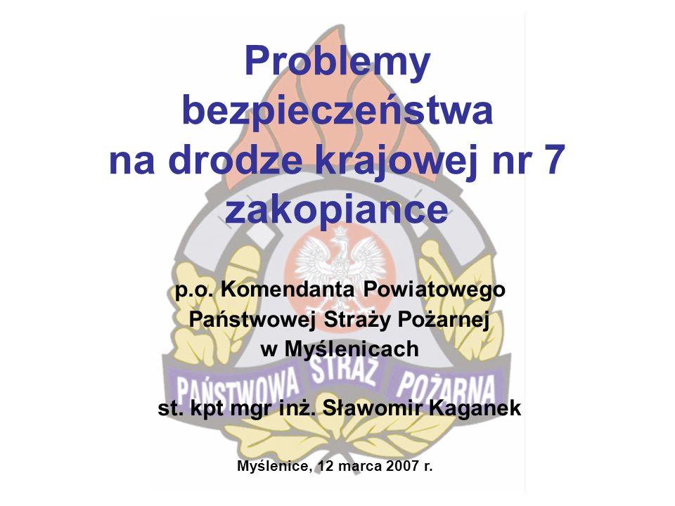 Związane ze przedłużaniem się działań ratowniczo- gaśniczych ze względu na długi czas oczekiwania na służby współdziałające w tym m.in.