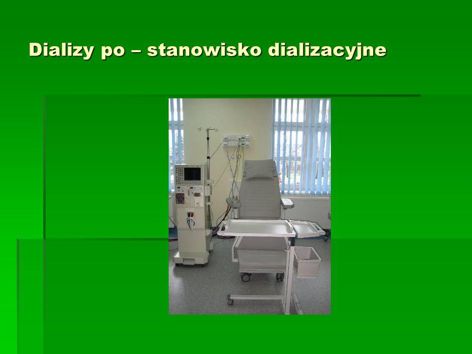 Dializy po – stanowisko dializacyjne