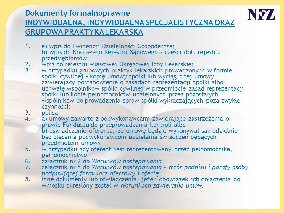 1.a) wpis do Ewidencji Działalności Gospodarczej b) wpis do Krajowego Rejestru Sądowego z części dot.