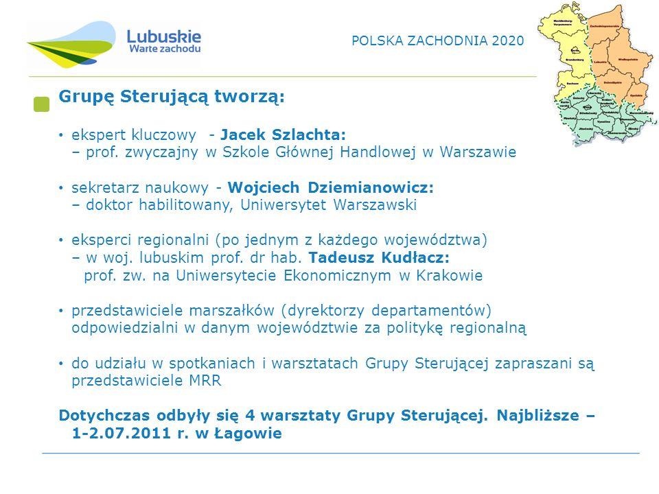 Grupę Sterującą tworzą: ekspert kluczowy - Jacek Szlachta: – prof.