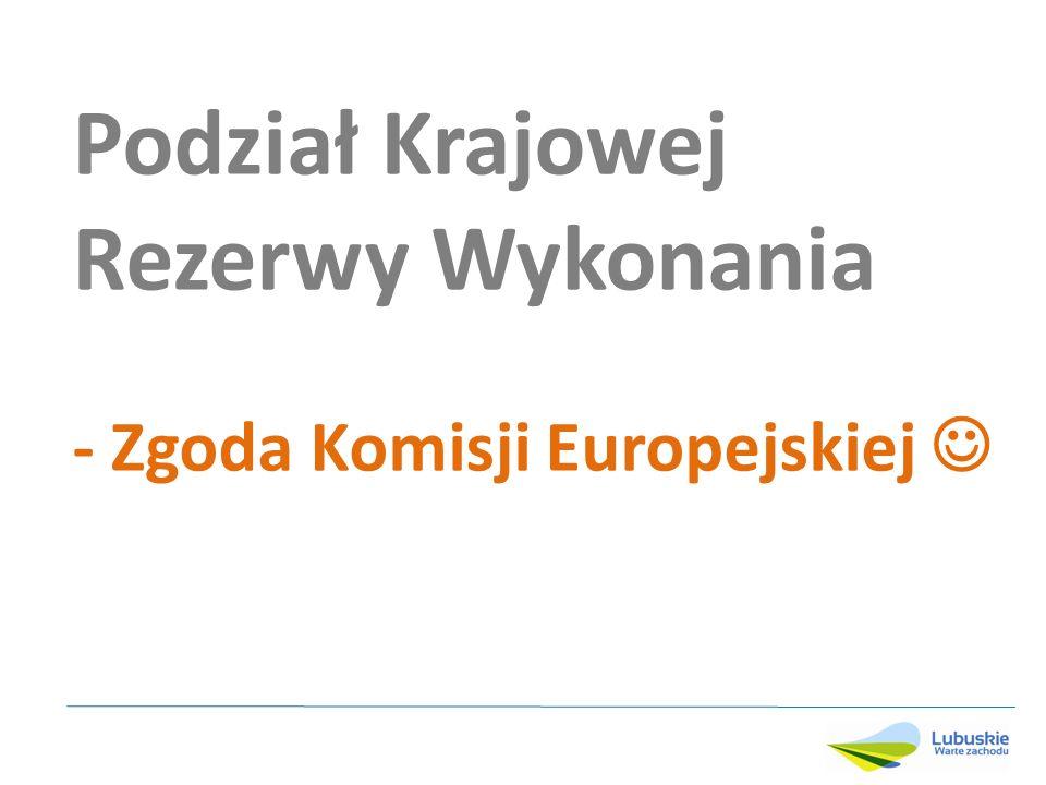 Podział Krajowej Rezerwy Wykonania - Zgoda Komisji Europejskiej