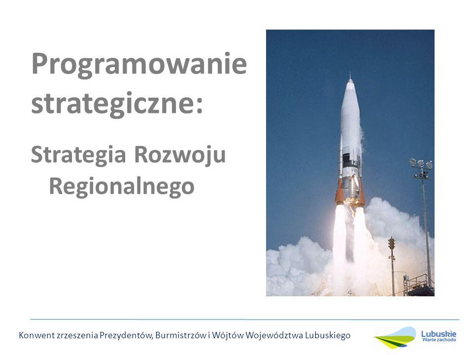 Programowanie strategiczne: Strategia Rozwoju Regionalnego Konwent zrzeszenia Prezydentów, Burmistrzów i Wójtów Województwa Lubuskiego