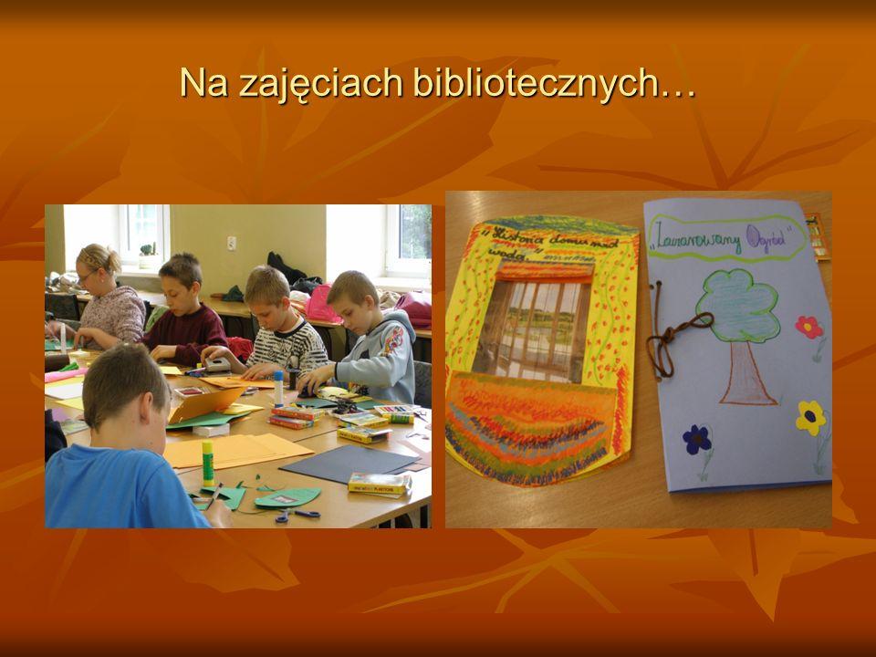 Na zajęciach bibliotecznych…