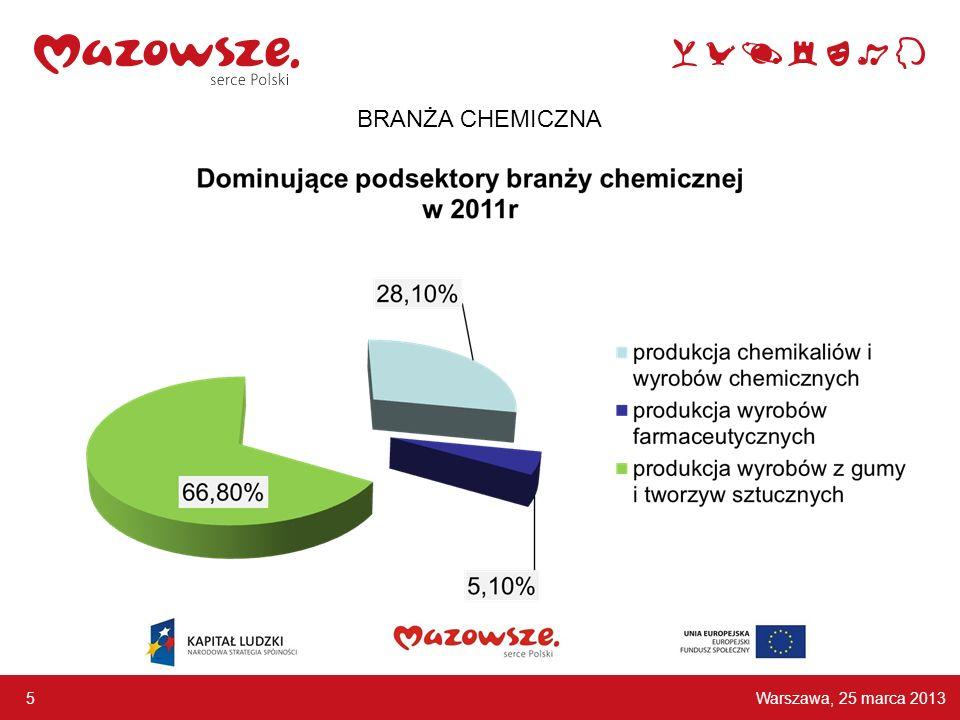 Warszawa, 25 marca 2013 5 BRANŻA CHEMICZNA