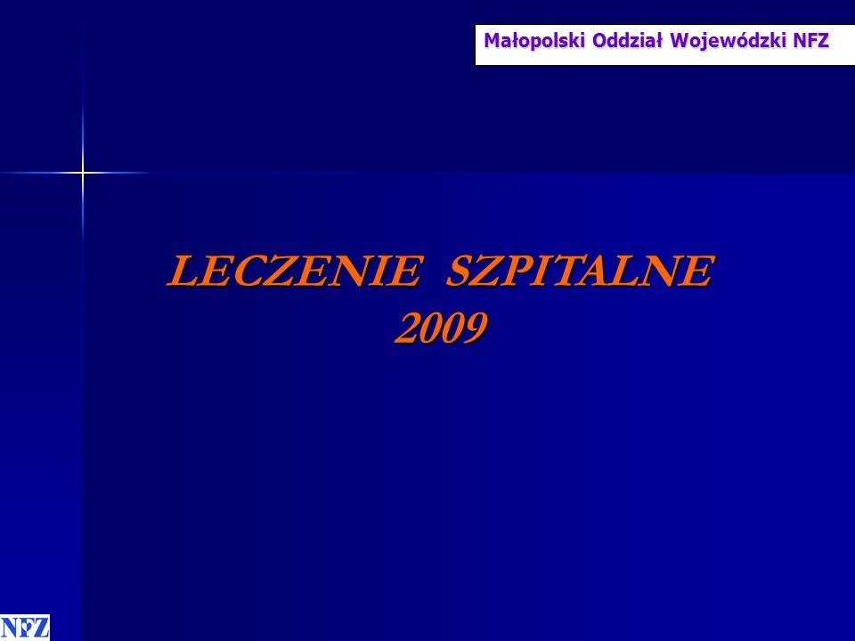 Małopolski Oddział Wojewódzki NFZ LECZENIE SZPITALNE 2009 LECZENIE SZPITALNE 2009