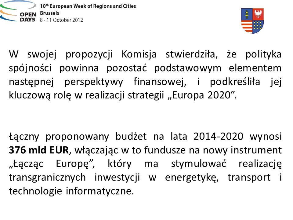 W swojej propozycji Komisja stwierdziła, że polityka spójności powinna pozostać podstawowym elementem następnej perspektywy finansowej, i podkreśliła