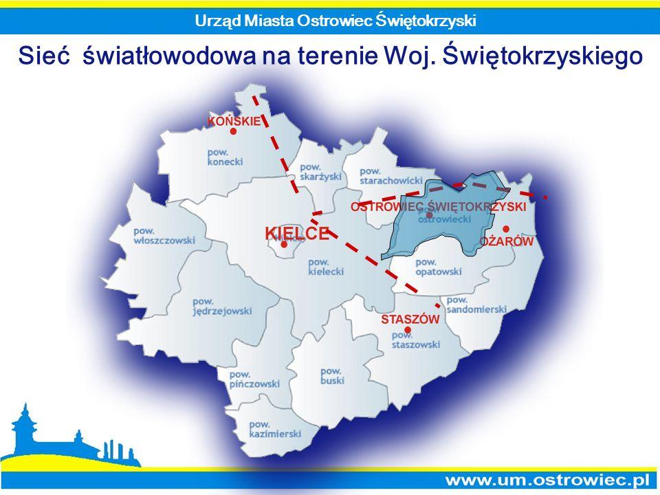 Sieć światłowodowa na terenie Woj. Świętokrzyskiego Urząd Miasta Ostrowiec Świętokrzyski
