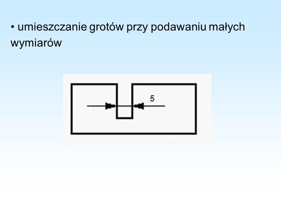 umieszczanie grotów przy podawaniu małych wymiarów 5