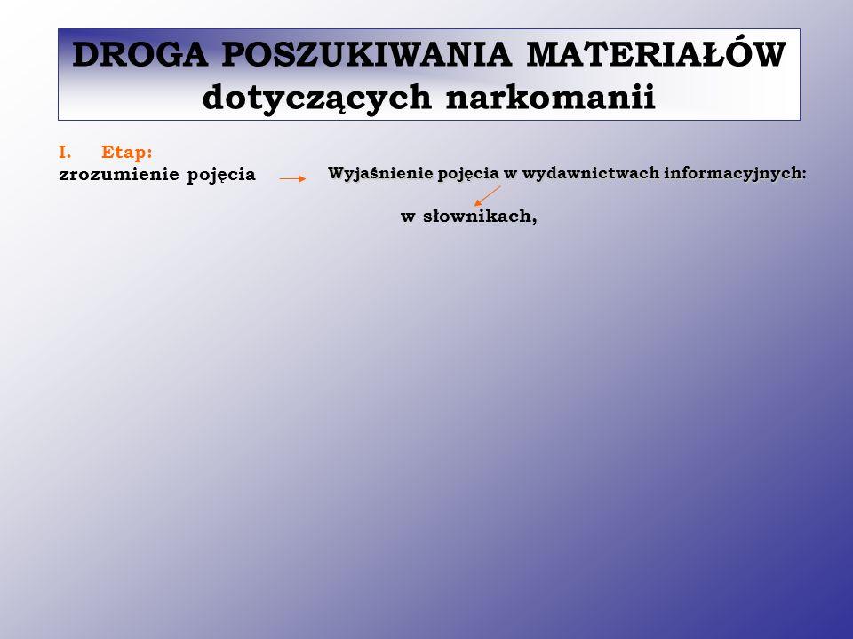 Narkomania - nawyk stałego używania narkotyków doprowadzający do zmian chorobowych, zwłaszcza w układzie nerwowym i wyniszczenia organizmu Definicja w Słowniku języka polskiego