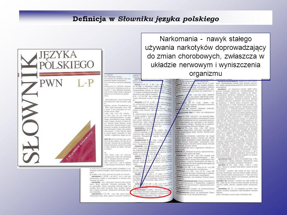DROGA POSZUKIWANIA MATERIAŁÓW dotyczących narkomanii I.Etap: zrozumienie pojęcia encyklopediach Wyjaśnienie pojęcia w wydawnictwach informacyjnych Wyjaśnienie pojęcia w wydawnictwach informacyjnych: w słownikach,
