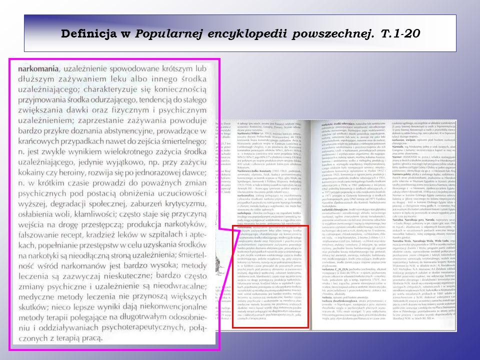 Definicja w Popularnej encyklopedii powszechnej. T.1-20