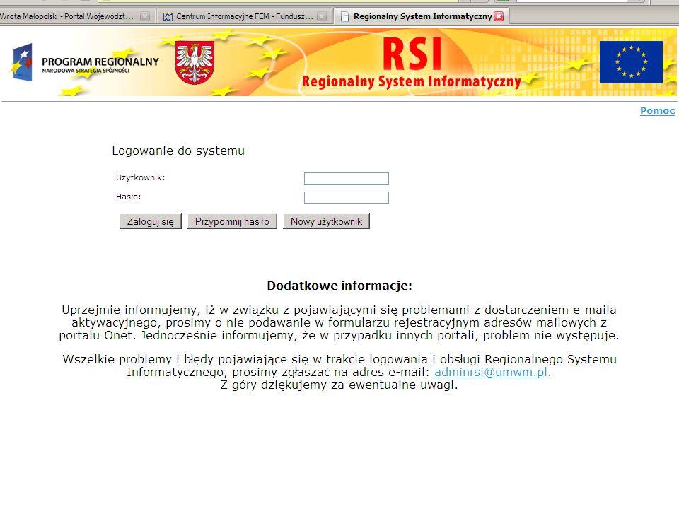 Małopolskie Centrum Przedsiębiorczości6 Regionalny System Informatyczny - RSI