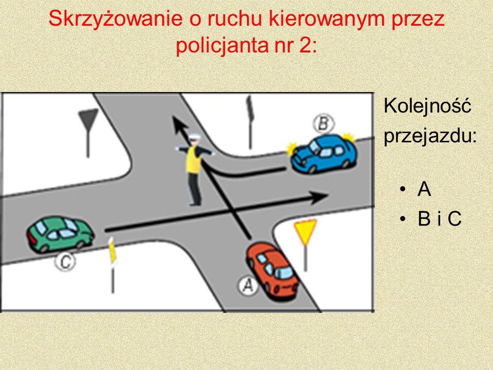 Przecinanie się kierunków ruchu – skrzyżowanie o ruchu okrężnym Pierwszeństwo przejazdu na skrzyżowaniu o ruchu okrężnym (rondzie) uzależnione jest od jego oznakowania.