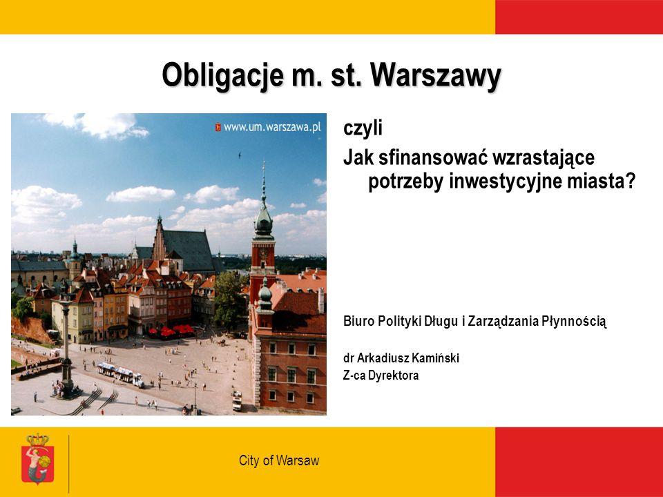 City of Warsaw Obligacje m. st.
