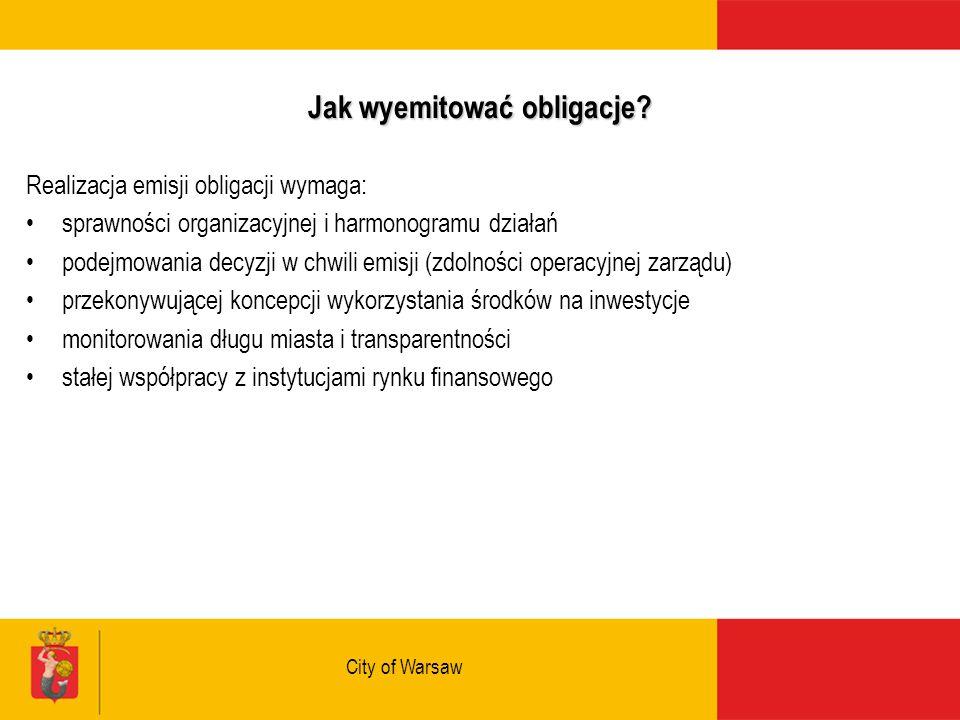 City of Warsaw Jak wyemitować obligacje.