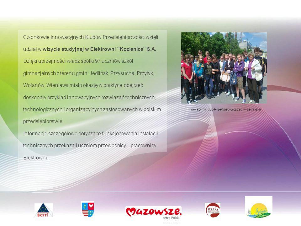 Członkowie Innowacyjnych Klubów Przedsiębiorczości wzięli udział w wizycie studyjnej w Elektrowni Kozienice S.A.